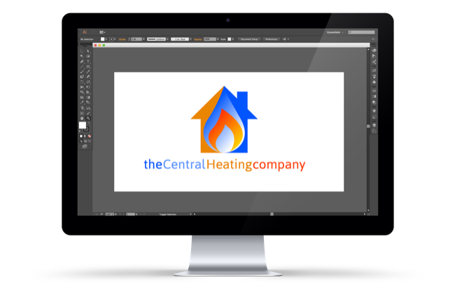 The Central Heating Company logo design