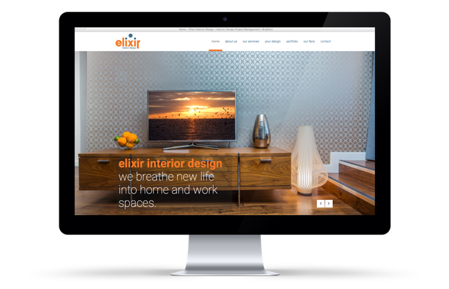 Elixir Interior Design Website