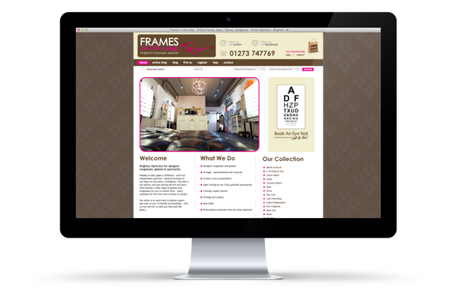 Frames in the Lanes Website