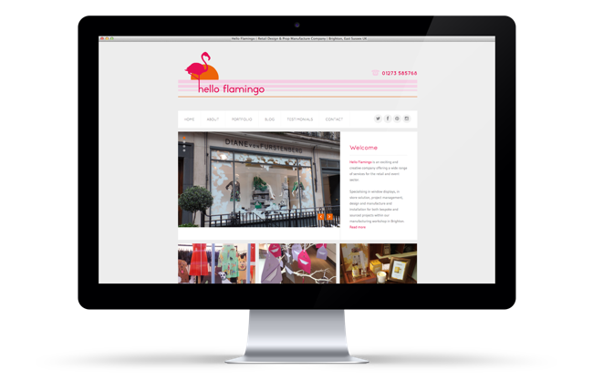 Hello Flamingo Website