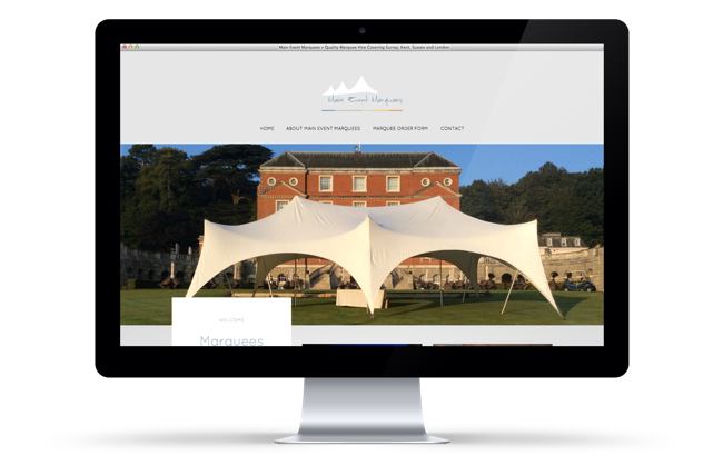 Main Event Marquees Website