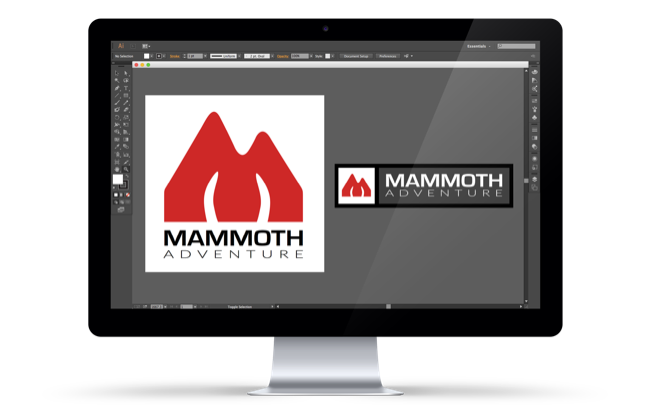 Mammoth Adventure logo design